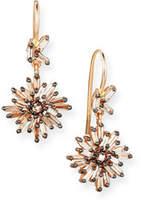 Suzanne Kalan Diamond Baguette Starburst Drop Earrings in 18K Rose Gold