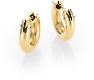 Roberto Coin 18K Yellow Gold Huggie Hoop Earrings/0.5""