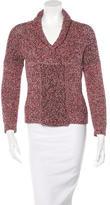 Etoile Isabel Marant Rib Knit Snap-Front Cardigan