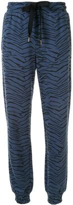 The Upside Alena tiger-print track pants