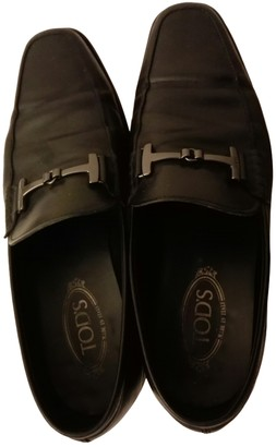 Tod's Black Leather Flats