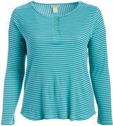 Caribbean Joe Hydrous Stripe Scoop Neck Henley - Plus