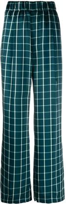 Jejia Plaid Print Trousers