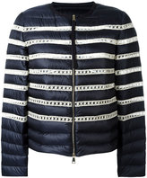 Moncler stripe padded jacket - women - Feather Down/Polyamide/Polyimide - 2