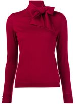 Vanessa Seward bow collar knitted blouse