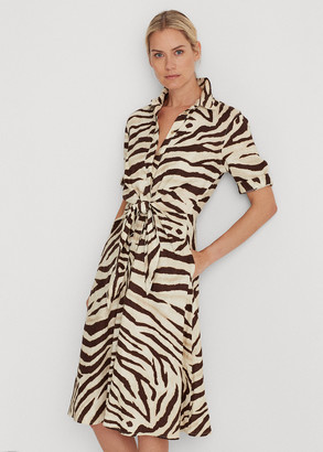 Ralph Lauren Print Linen Shirtdress