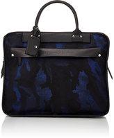 Felisi Men's Leather-Trimmed Briefcase-BLUE