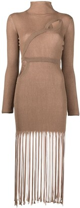 Antonella Rizza Knitted Fringed Dress