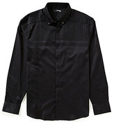 Murano Manhattan Collection Slim-Fit Long-Sleeve Houndstooth Print Snap Sportshirt
