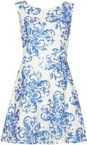 Izabel London Paisley Print Crochet Dress