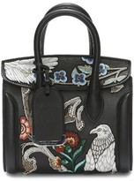 Alexander McQueen Mini Heroine Embroidered Calfskin & Genuine Snakeskin Tote - None