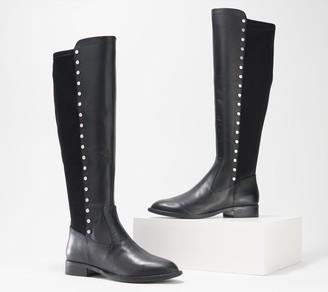 Marc Fisher Leather Medium Calf Tall Shaft Boots - Panya