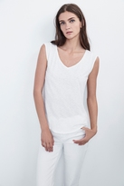 Christina Cotton Slub Cap Sleeve Tee