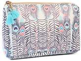 Riah Fashion Peacock Feather Cosmetic Pouch