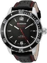 Wenger Men's 01.0851.120 Roadster Analog Display Swiss Quartz Black Watch