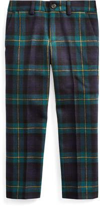 Ralph Lauren Childrenswear Boy's Slim Fit Twill Wool Plaid Pants, Size 2-4