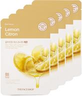 The Face Shop Real Nature Lemon Blackhead Treatment Face Mask - Set of Five