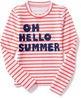 Old Navy Patterned Rashguard for Girls