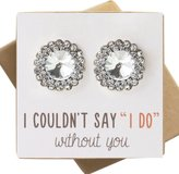 AMY O. Wedding Bridesmaids Stud Earrings in Silver or Gold