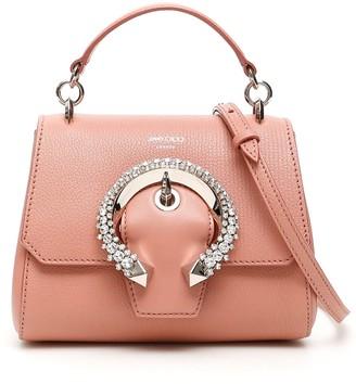 Jimmy Choo Crystal Buckle Small Top Handle Madeline Bag