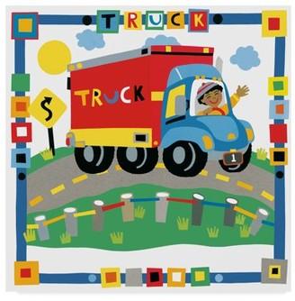 Trademark Fine Art 'Childrens Truck' Canvas Art by Cheryl Piperberg