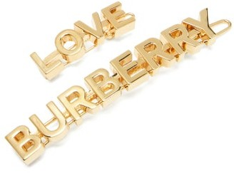 Burberry Love Hair Clips - Gold