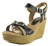Azura Frappe Women Open Toe Leather Wedge Sandal.