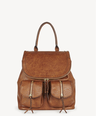 Sole Society Women's Emery Backpack Vegan Leather Brown1 One Size From