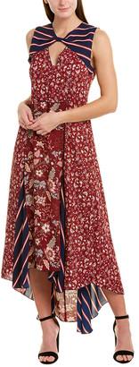 BCBGMAXAZRIA Bow Cutout Maxi Dress