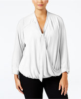 NY Collection Plus Size Tie-Neck Blouse