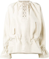 J.W.Anderson lace-up front top - women - Rayon/Viscose - 8