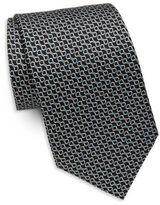 Brioni Chain Link Printed Silk Tie