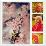 """New View She is Fierce"""" Cherry Blossom 3-opening Collage Frame"""