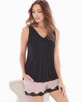 Soma Intimates Tank/Shorts Pajama Shorts Dreamy Dot Black