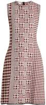 Oscar de la Renta Sleeveless intarsia-knit wool dress