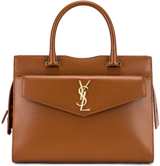 Saint Laurent Medium Uptown Monogramme Bag in Brick | FWRD