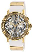 Ted Lapidus Women's Chronograph Gold-Tone Steel Case White Rubber