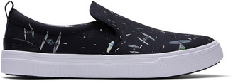 Toms Star Wars X Black Space Print TRVL LITE Men's Slip-Ons