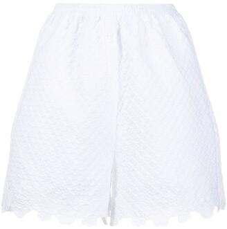 Cecilie Bahnsen Scallop Hem Shorts