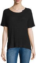 IRO Rikke Short-Sleeve Jersey Top w/ Chain, Black