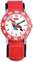 Marvel Children's 32mm Spider-Man Time Teacher Watch in Red