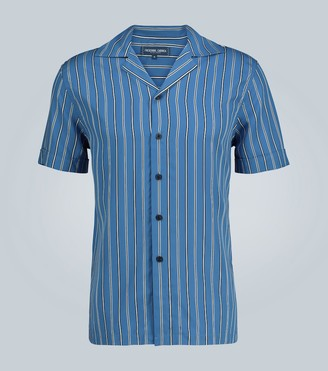 Frescobol Carioca Tencel striped short-sleeved shirt
