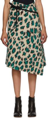 MM6 MAISON MARGIELA Beige Leopard Wrap Skirt