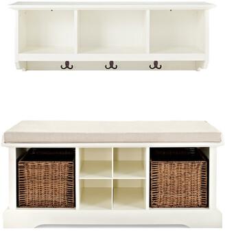 Crosley Brennan 2Pc Entryway Bench & Shelf Set
