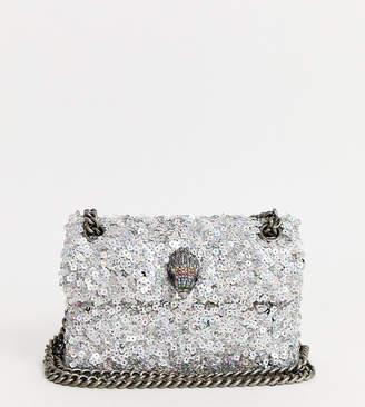 Kurt Geiger London Kensington mini sequin bag-Silver