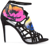Pierre Hardy floral print strappy sandals - women - Leather - 35