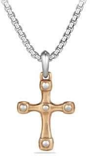 David Yurman Anvil Bronze& Sterling Silver Cross Pendant
