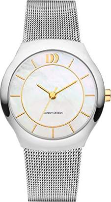 Danish Designs Danish Design Women's Quartz Watch with White Dial Analogue Display and Silver Stainless Steel Bangle DZ120519