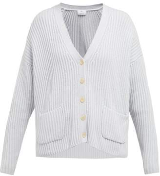Allude Oversized Ribbed Cashmere Cardigan - Womens - Light Blue