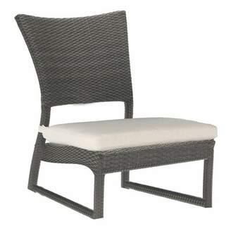 Skye Sand Patio Chair with Cushion Summer Classics Frame Color: Skye #2 Black Walnut, Cushion Color: Linen Cornflower